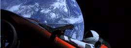 Tesla in space