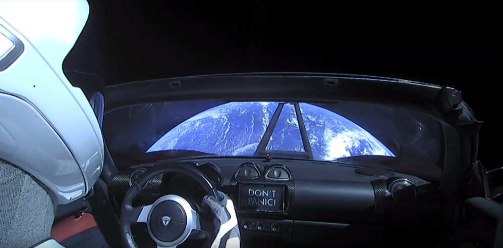 Tesla car in space